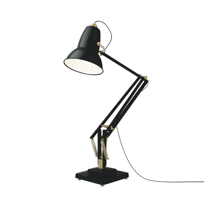 Giant 1227 Brass Floor Lamp Gloss Deep Slate