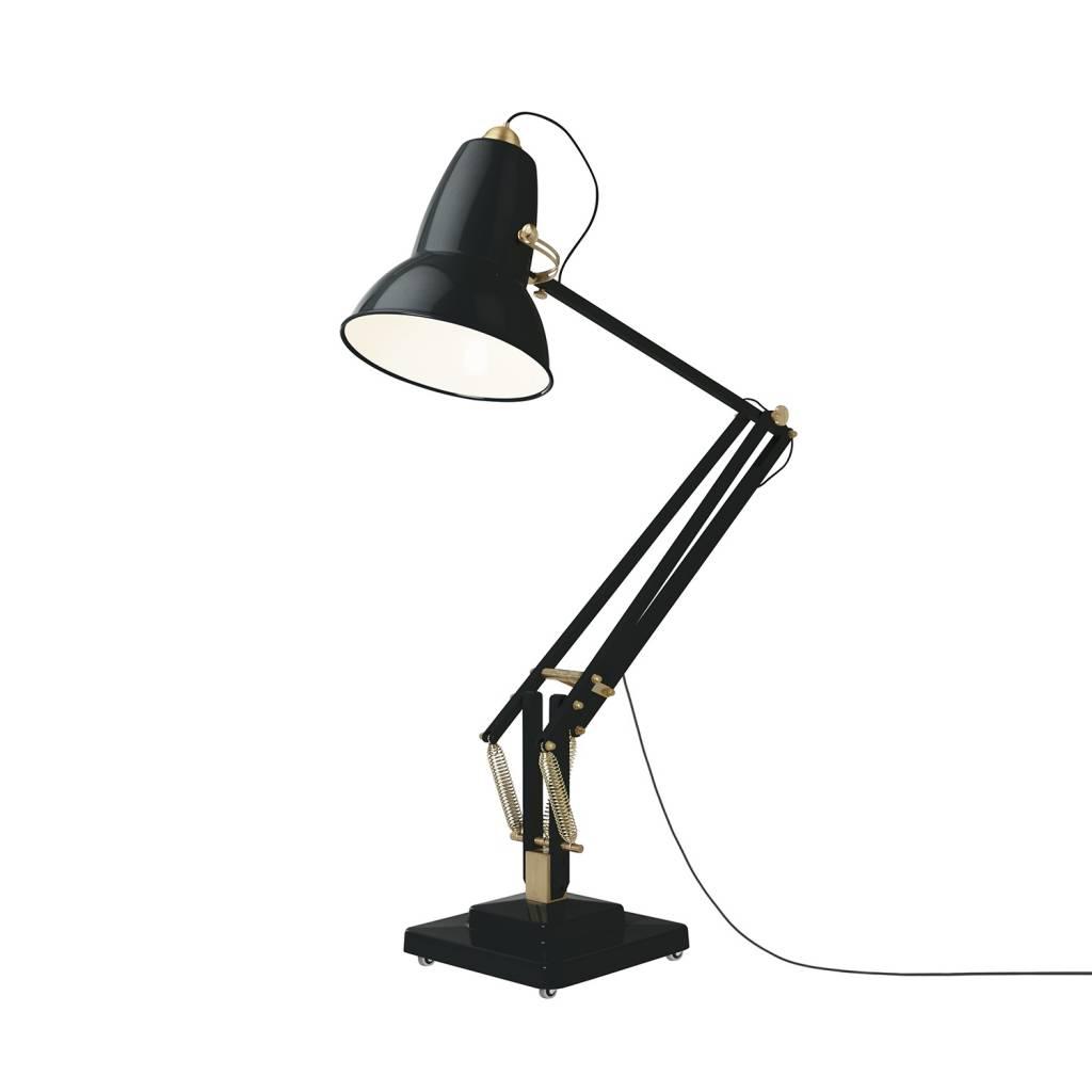 Giant 1227 Brass Floor Lamp Gloss Deep Slate