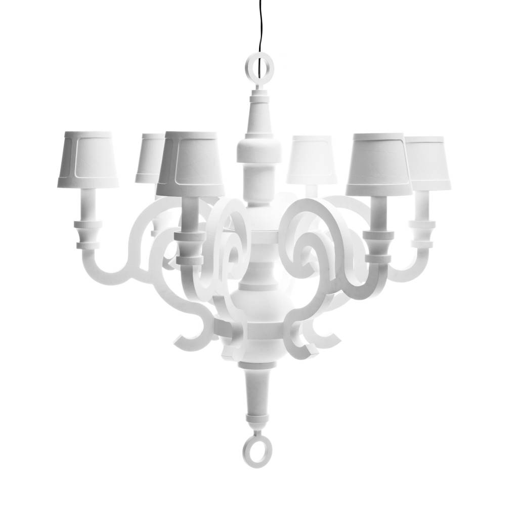 Paper Chandelier XL White + Set of Shades