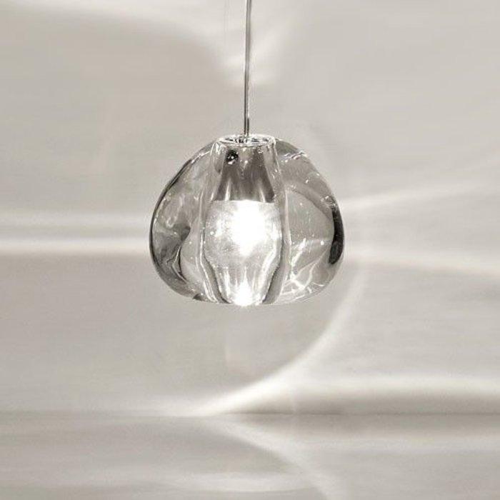 Mizu Pendant, Brushed Nickel, Clear