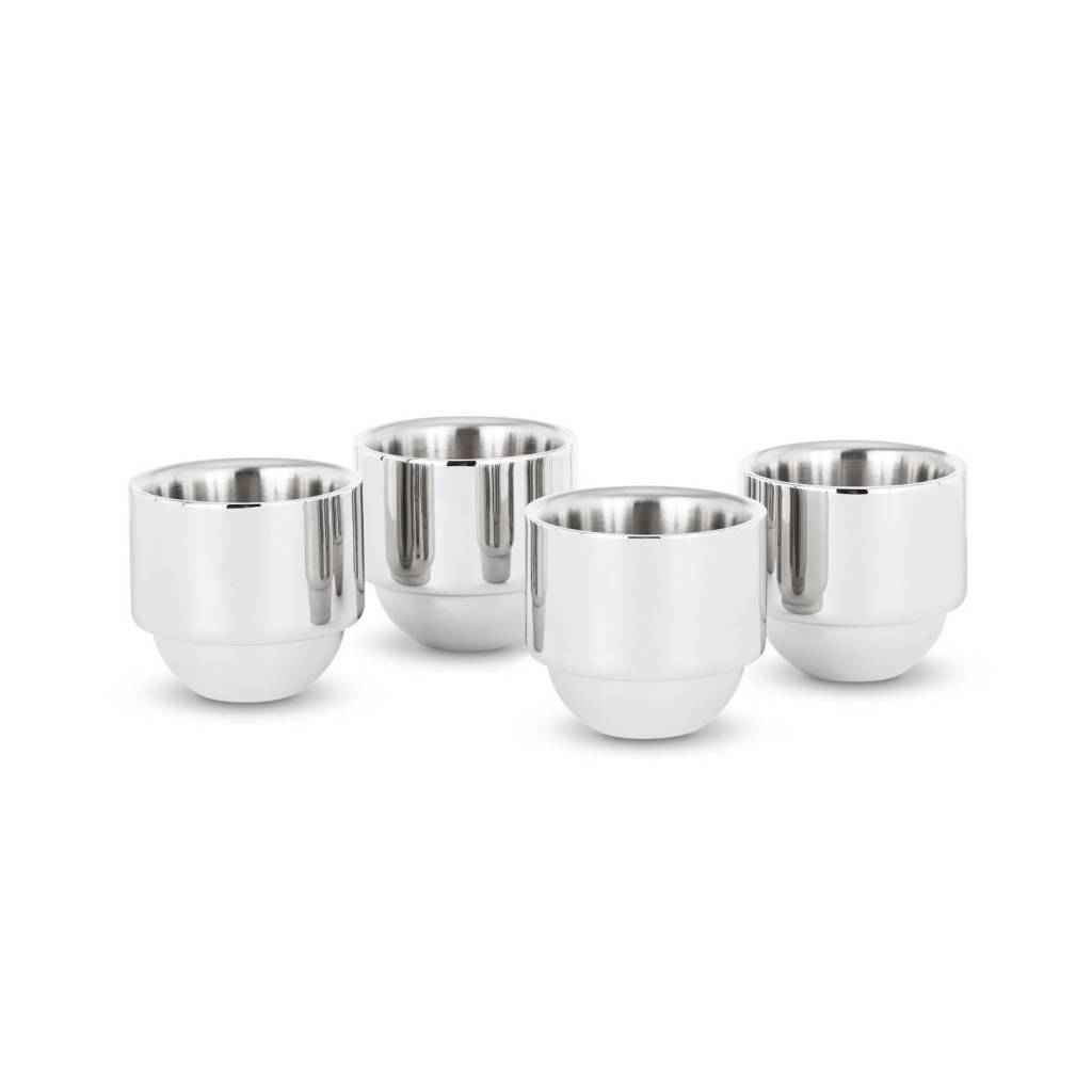Brew Espresso Cups x4 Stainless Steel