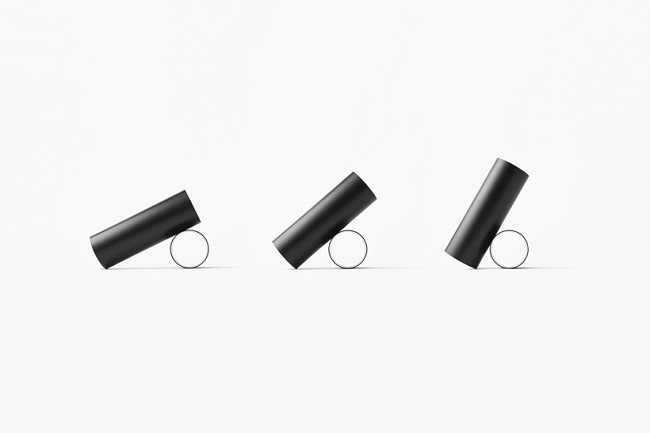 Two simple shapes join together to form a striking modern floor lamp by Nendo