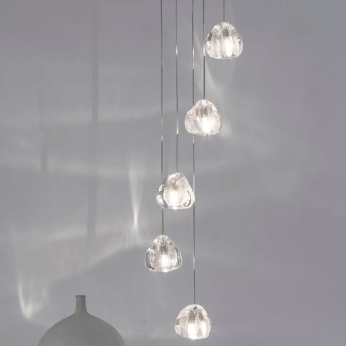 Mizu pendant brushed nickel silver durst
