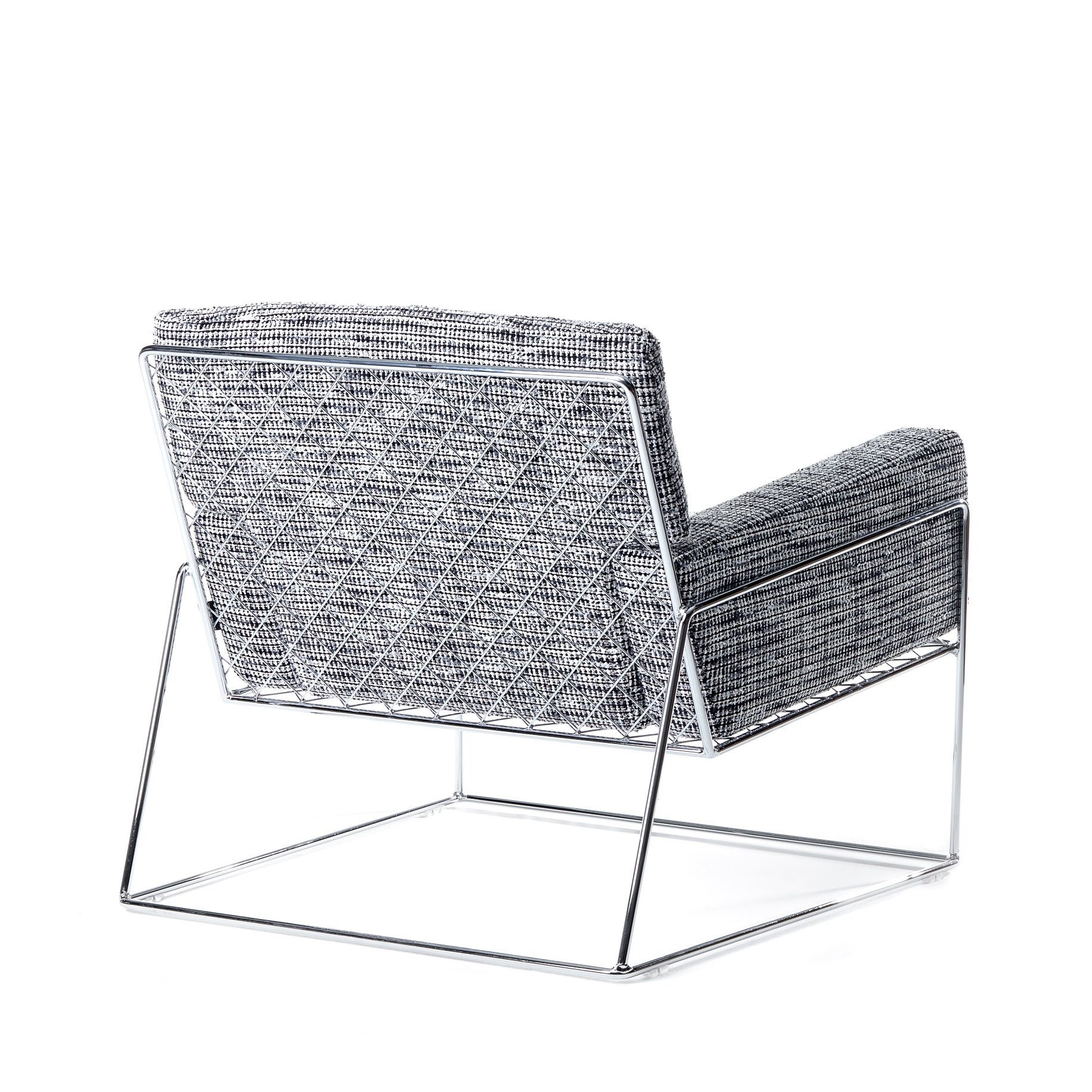 Charles Armchair Grey/Chrome