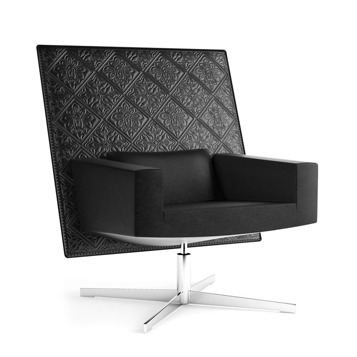 Jackson Chair signature Leather Embroidery