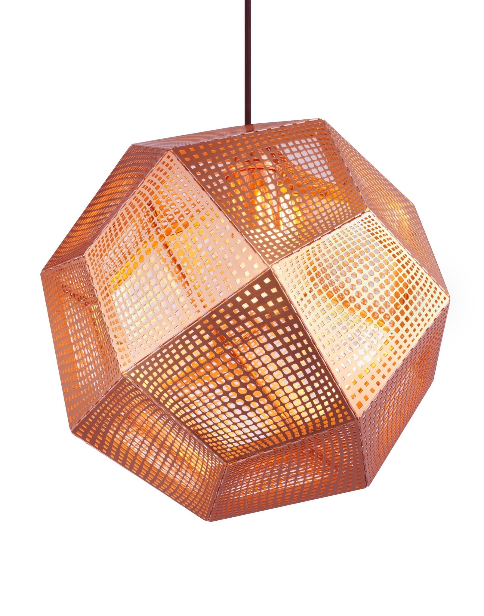 Etch Copper Pendant