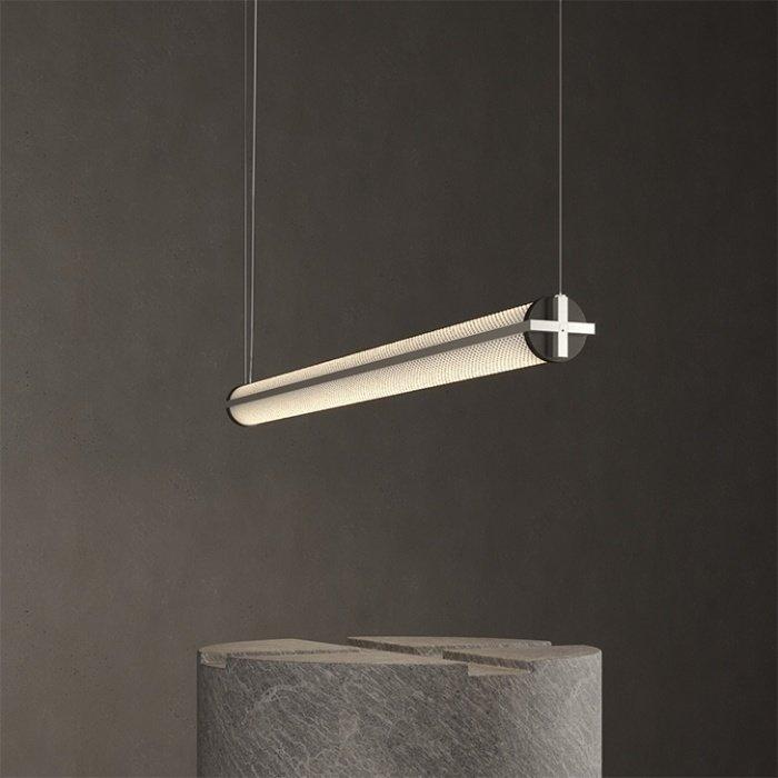 Metropolis suspension Satin Brass 48'' 4000 K