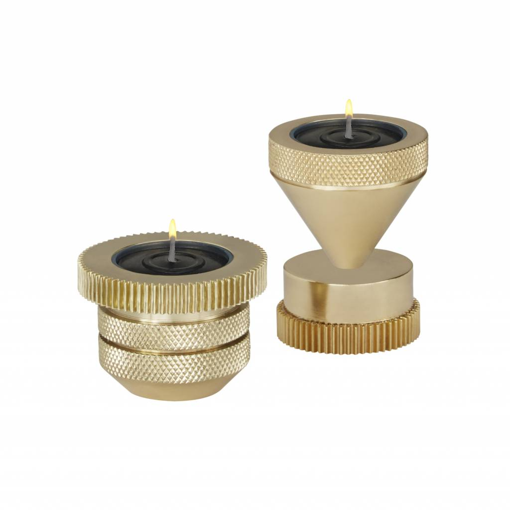 Cog Tea Light Holder Cylinder