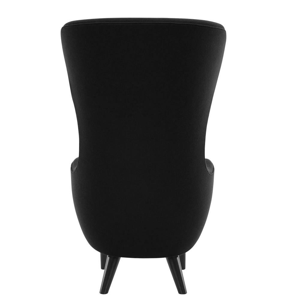 Wingback Chair - Black Legs