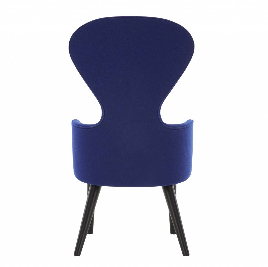 Wingback Dining Chair - Black Legs