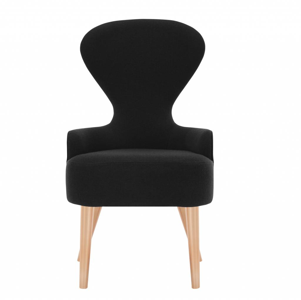 Wingback Dining Chair - Copper Legs