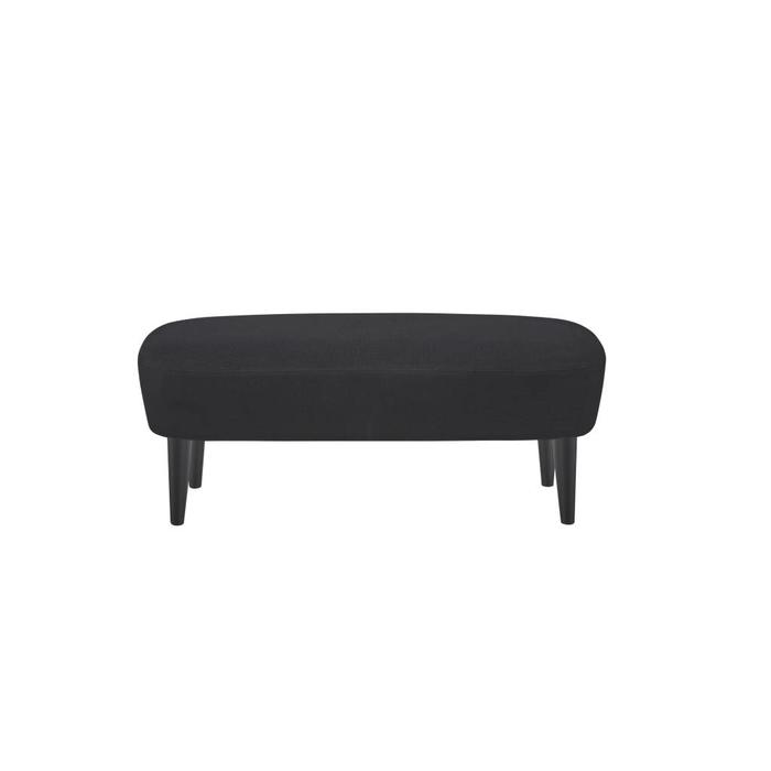Wingback Long Ottoman - Black Legs