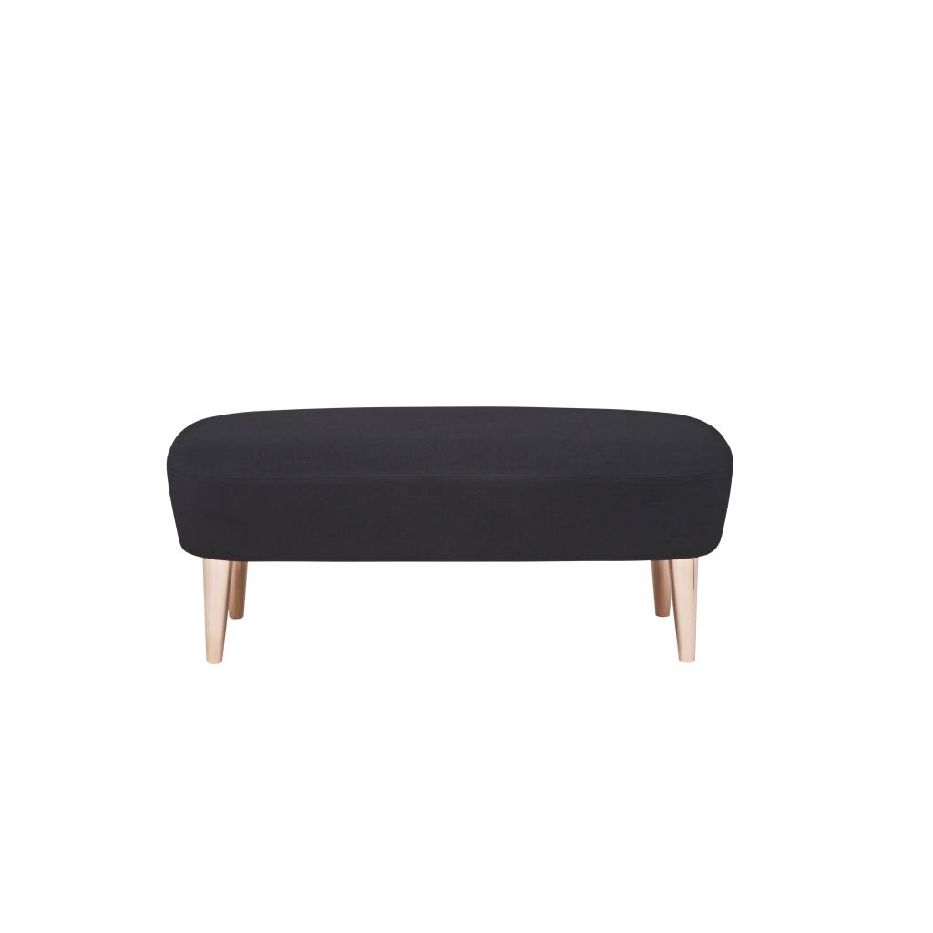 Wingback Long Ottoman - Copper Legs