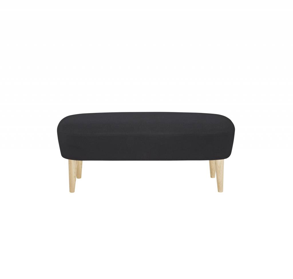 Wingback Long Ottoman - Natural Legs