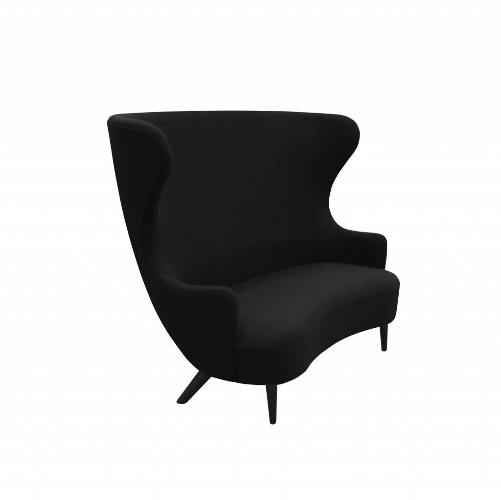 Wingback Sofa - Black Legs