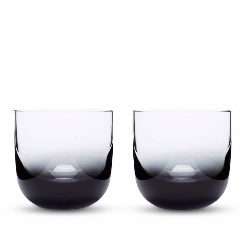 Tank Whiskey Glass Black S/2