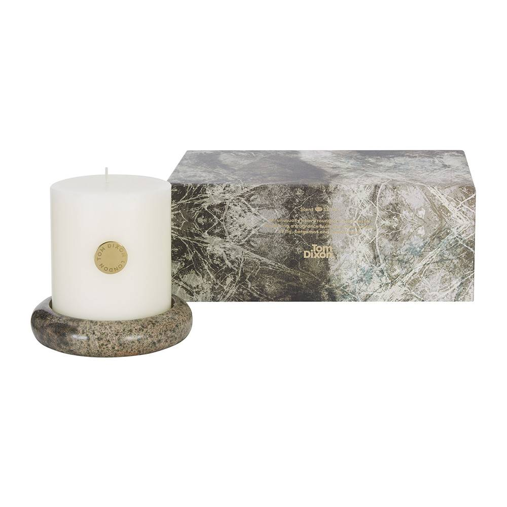 Stone Pillar Candle Set