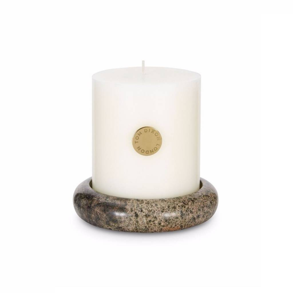 Stone Pillar Candle Set