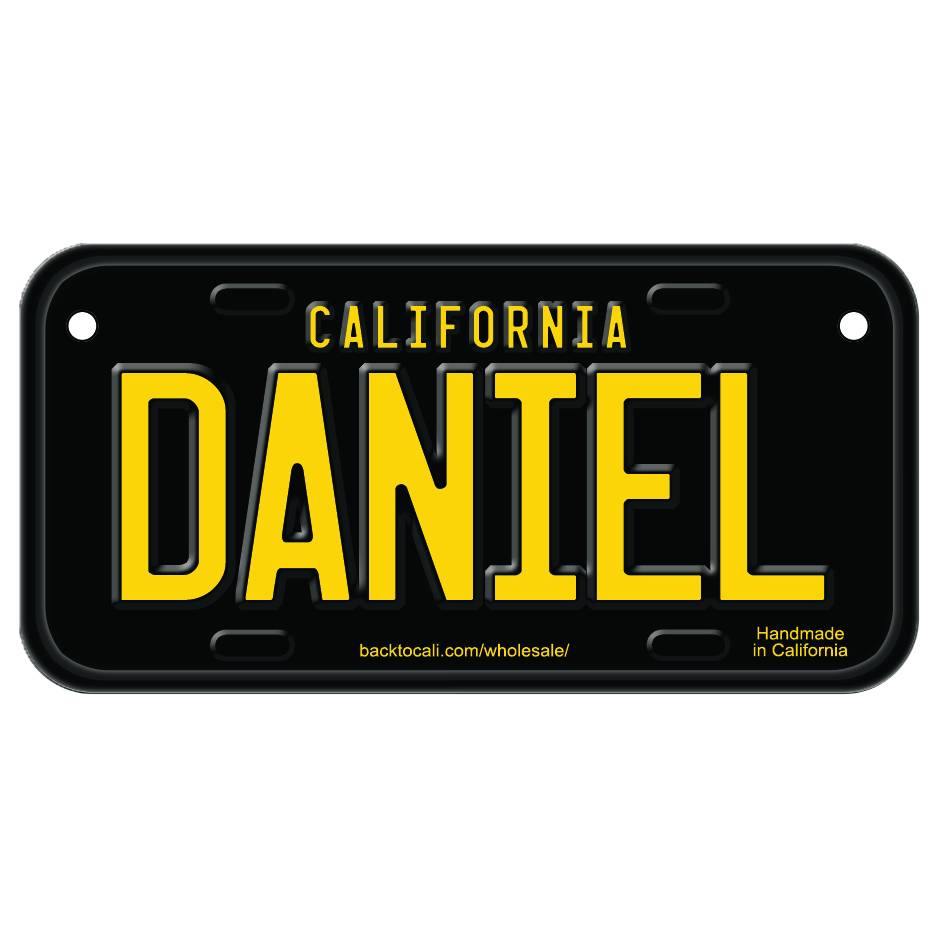 Classic Black Wooden License Plate