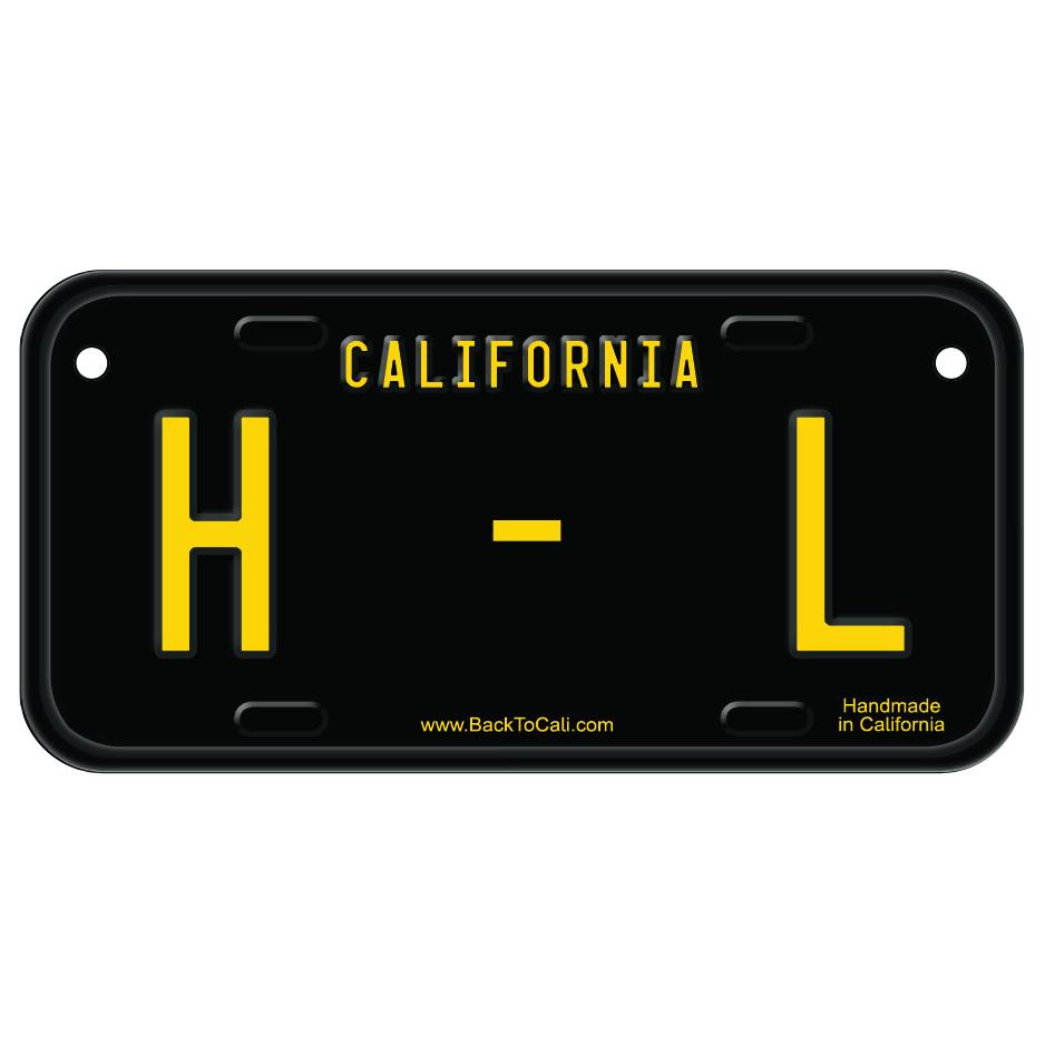 Classic Black Wooden License Plate H-L