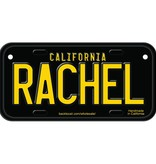 Classic Black Wooden License Plate M-S