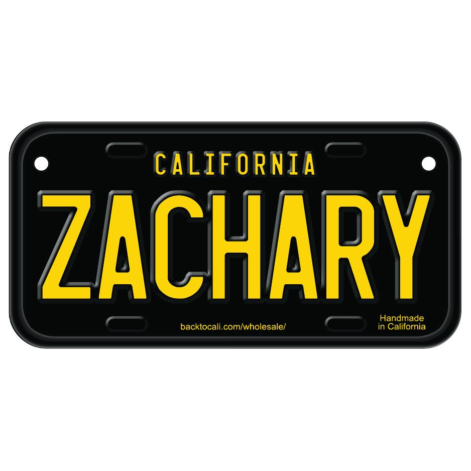 Classic Black Wooden License Plate T-Z