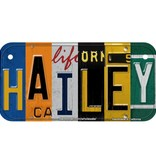 Multi Color Collage Wooden license plate H-L