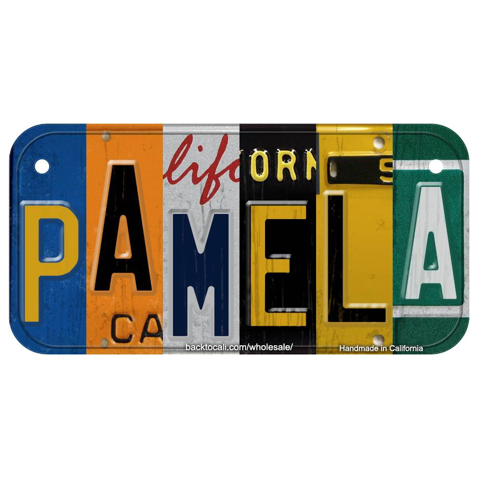 Multi Color Collage Wooden license plate M-S
