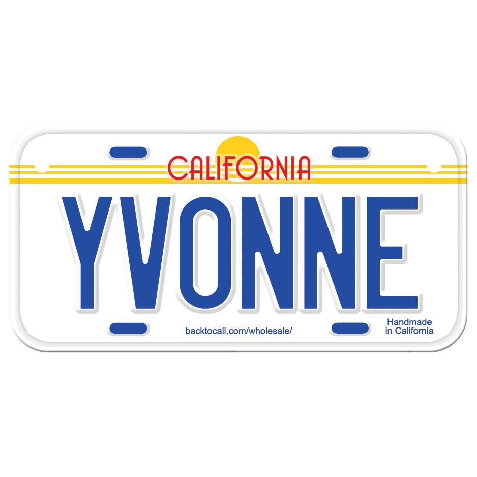 Classic White Wooden License Plate T-Z