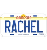 Classic White Wooden License Plate M-S