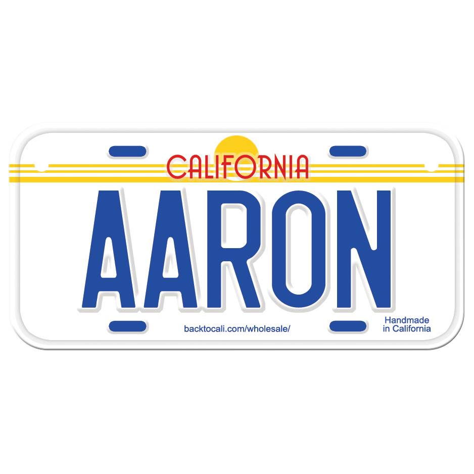 Classic White Wooden License Plate