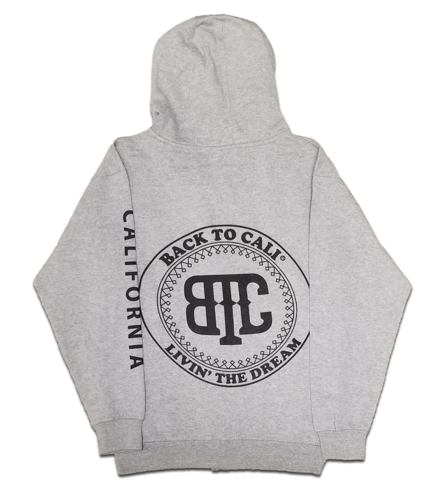 BackToCali Back To Cali Livin the dream Circle Patch - zip up California Heather Gray