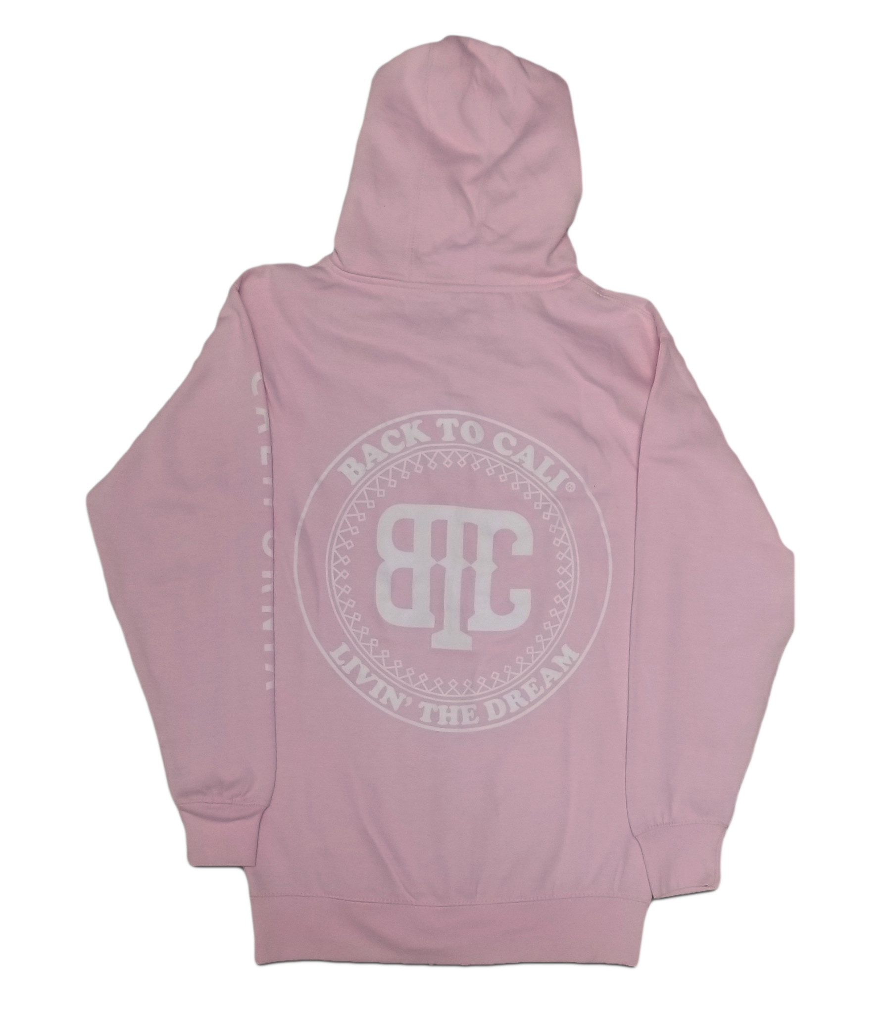 BackToCali Back To Cali Livin the dream Circle Patch - zip up California Pink/Flower