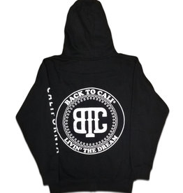 Back To Cali Livin the dream Circle Patch - zip up California Black