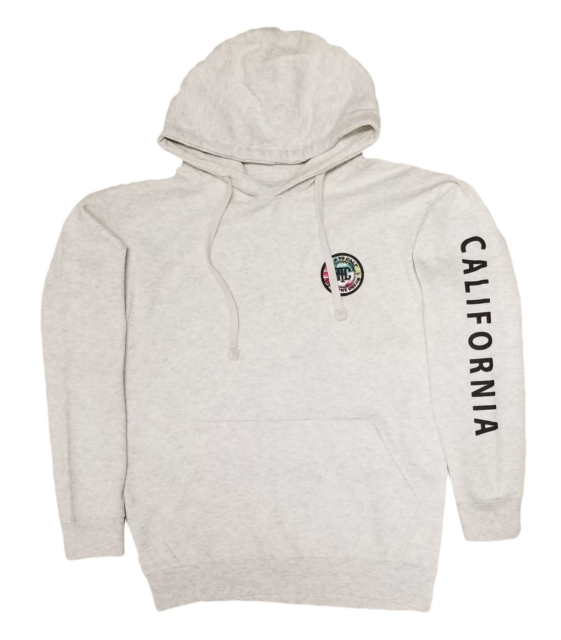 Back To Cali Livin the dream Circle Patch - Oatmeal/flower Hoodie California