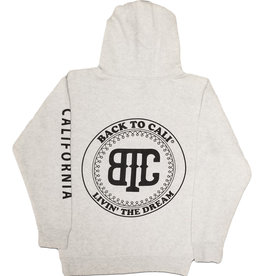 Back To Cali Livin the dream Circle Patch California - Oatmeal/flower Hoodie
