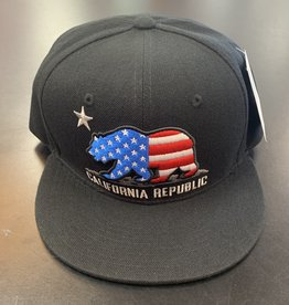 Whang US Flag Cali Bear Snapback Black
