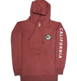 Back To Cali Livin the dream Circle Patch - zip up Carlsbad Burgundy/Flower