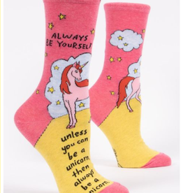 Blue Q Always Be A Unicorn Crew Socks