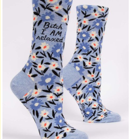 Blue Q Bitch I AM Relaxed Crew Socks