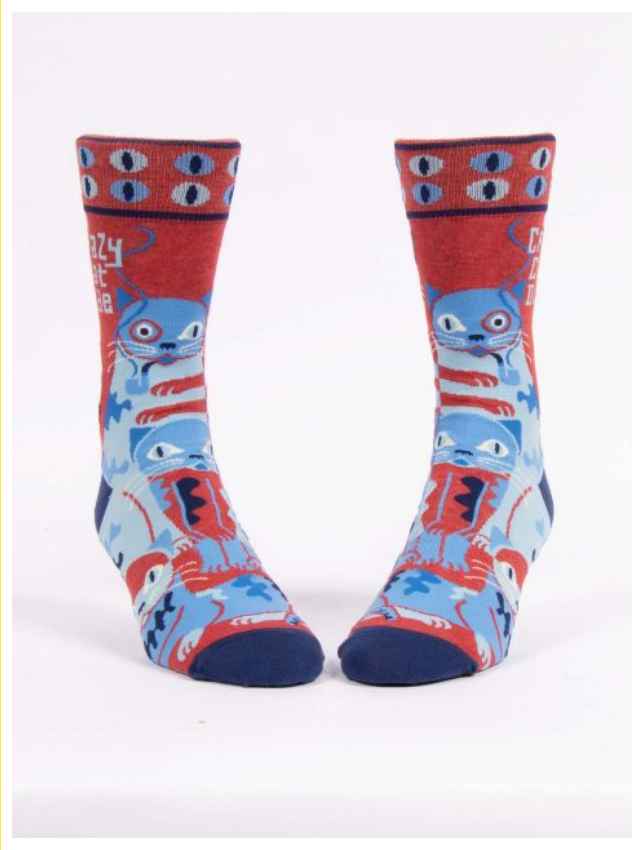 Blue Q Crazy Cat Dude Men's Socks