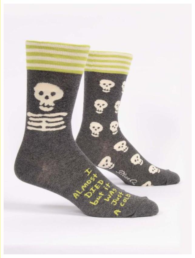 Blue Q I Almost Died Men's Socks