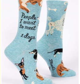 Blue Q People to Meet: Dogs Crew Socks