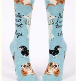Blue Q People to Meet: Dogs Crew Socks