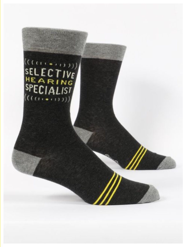Blue Q Selective Hearing Specialist Men's Sock