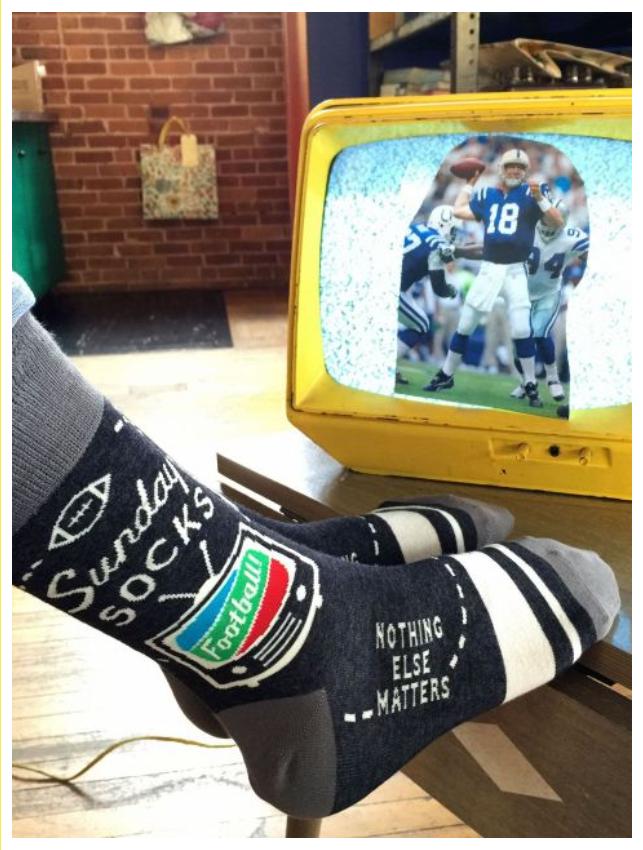Blue Q Sunday Socks Men's