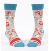 Blue Q Video Game Socks Men's Crew