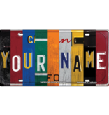 CAR-SIZE CUSTOM WOODEN LICENSE PLATE (ECOM) Classic Collage