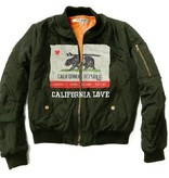 Bomber Jacket California Bear Print