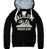 Cali Love bear Flocking Print zipper hoodie